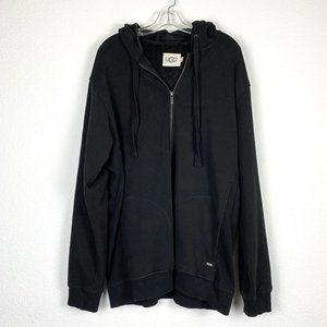 UGG Luxuriously Soft Black Full Zip jacket - XL